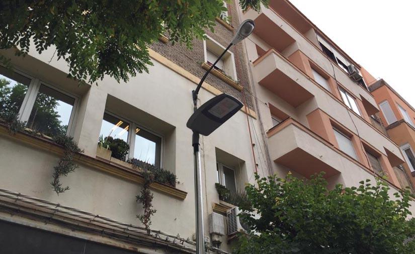 Dos calles de Zaragoza mejoran su iluminación