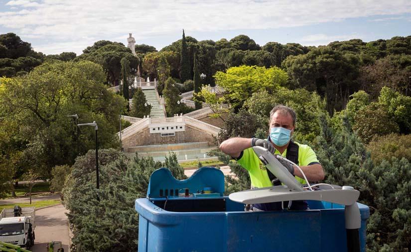 Dos parques de Zaragoza estrenan alumbrado