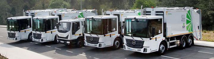 COGERSA adquiere cinco camiones nuevos para la recogida de basura, más seguros y cómodos