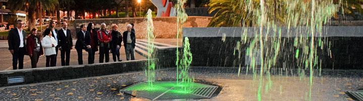El encendido de la fuente corona la fase inicial de mejora del Parque de La Granja de Santa Cruz de Tenerife