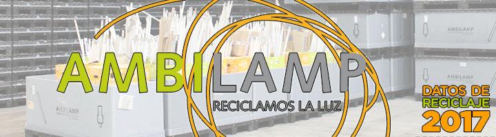 AMBILAMP incrementa sus cifras de reciclaje en 2017: 2.649 toneladas de lámparas y 1.779 toneladas de luminarias