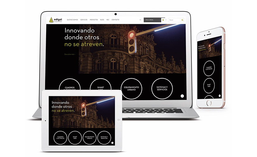 Edigal lanza su nueva web corporativa