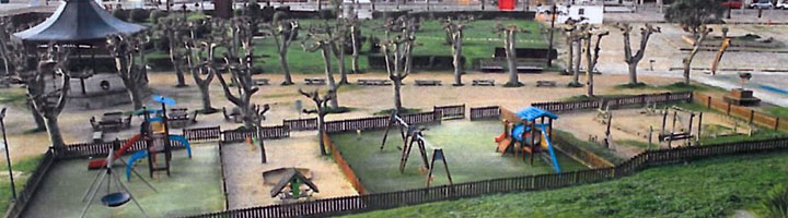 Un castillo medieval presidirá el parque infantil de la Palma en Baiona