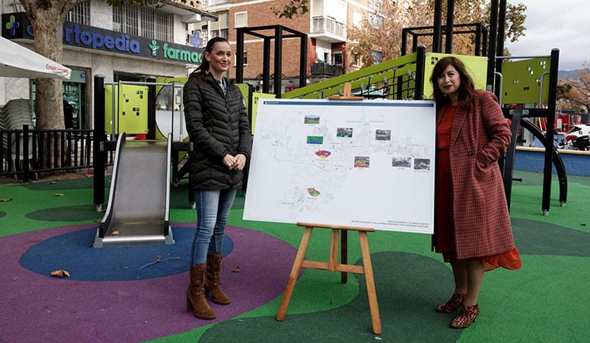 Ejecutado más del 70% del Plan de Mejora de Parques Infantiles de la ciudad de Málaga