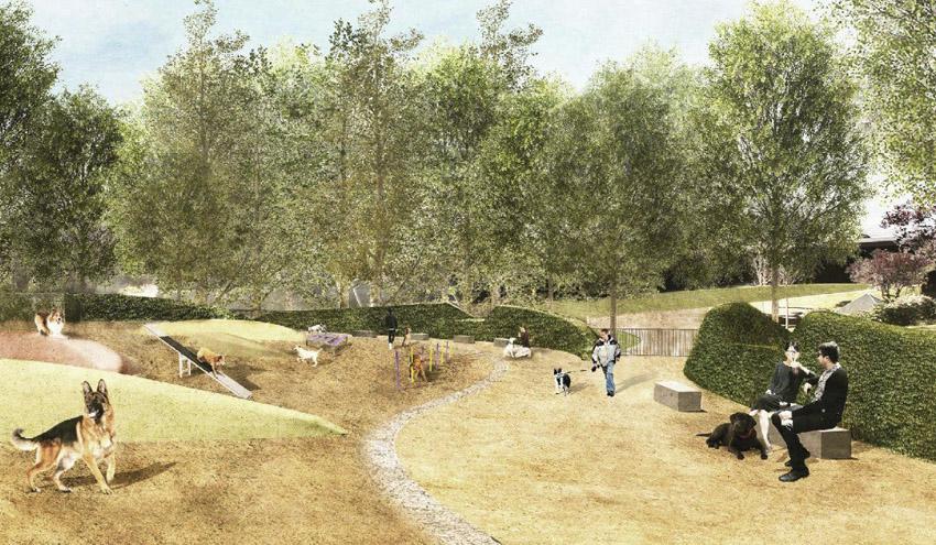 El área de recreo para perros más grande del Eixample estará lista el próximo mes de marzo