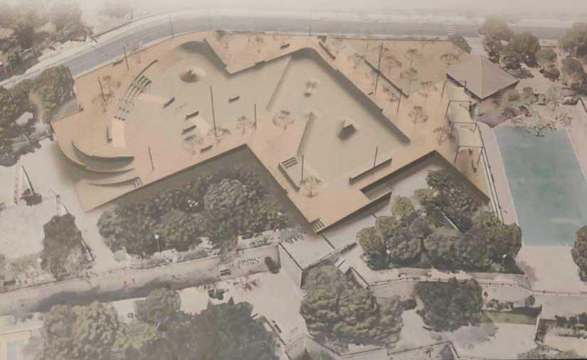 El Ayuntamiento de Alicante impulsa las obras de rehabilitación del skatepark de Monte Tossal