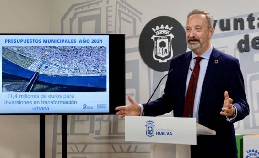 El Ayuntamiento de Huelva movilizará este año 11,4 millones en inversiones de transformación urbana
