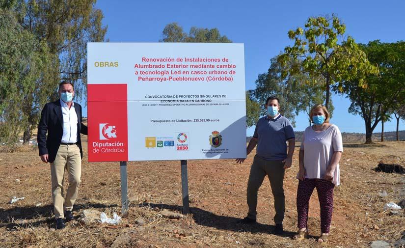 El Ayuntamiento de Peñarroya-Pueblonuevo sustituye 462 puntos de luz por luminarias Led