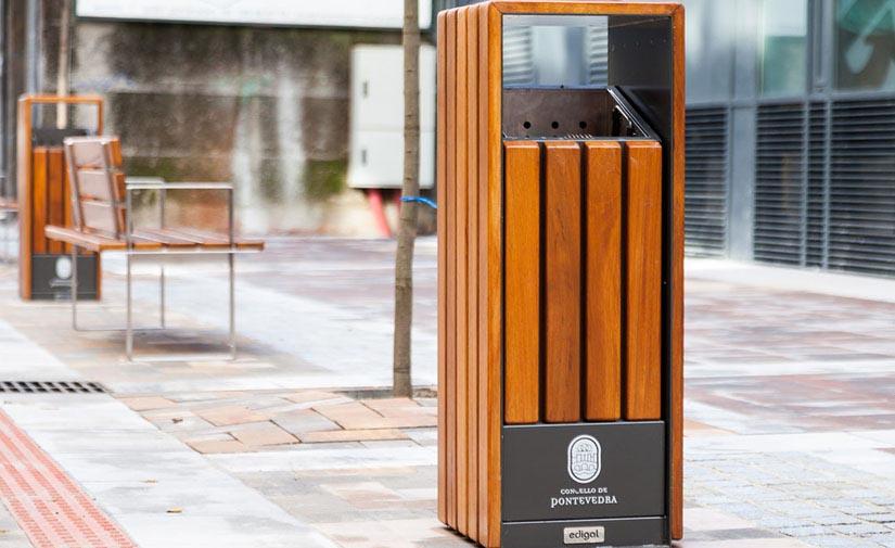 El Ayuntamiento de Pontevedra mejora su recogida de basura con las nuevas papeleras Selective de Edigal