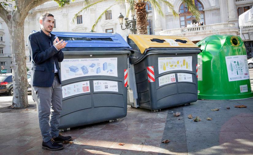 El Ayuntamiento de València pone en marcha diferentes medidas para fomentar el reciclaje selectivo