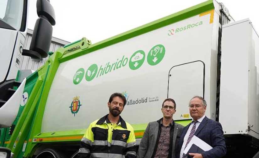 El Ayuntamiento de Valladolid incorpora nuevos camiones híbridos de recogida de residuos