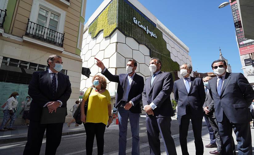 El Ayuntamiento de Valladolid y El Corte Inglés presentan la primera fachada verde vegetal de España