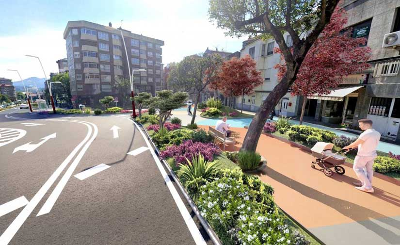 El Ayuntamiento de Vigo aprueba el proyecto de ampliación de la humanización de Gregorio Espino a la calle Merlo