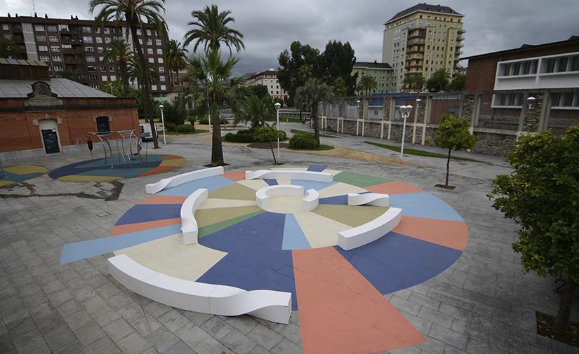 El barrio de Elorrieta en Bilbao estrena unanueva área de recreo con circuito deportivo