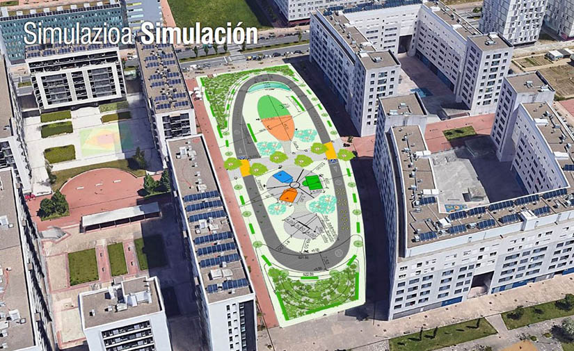 El barrio de Zabalgana en Vitoria contará con una nueva zona deportiva multidisciplinar y una pista de patinaje