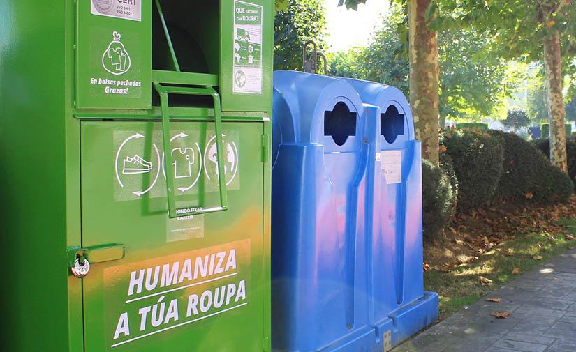 El Concello de Carballo y Humana aumentan el número de puntos de recogida en la vía pública para facilitar las donaciones de ropa