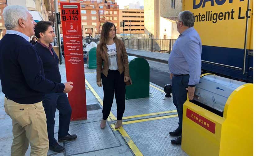 El entorno del yacimiento de San Esteban, en Murcia, estrena contenedores soterrados