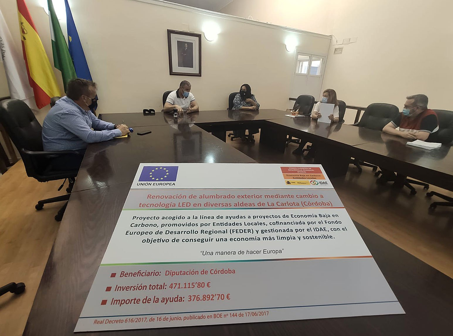 El municipio cordobés de La Carlota apuesta por el alumbrado LED