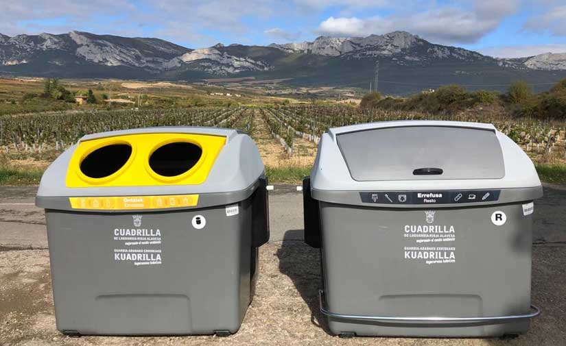 El municipio de Laguardia cuenta ya con el nuevo contenedor OVAL de CONTENUR