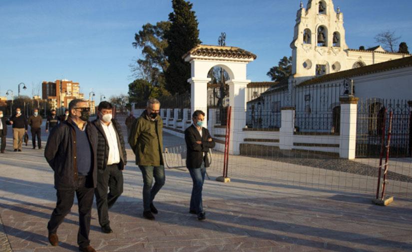 El nuevo alumbrado del entorno del Santuario de Huelva lo potencia como referente turístico