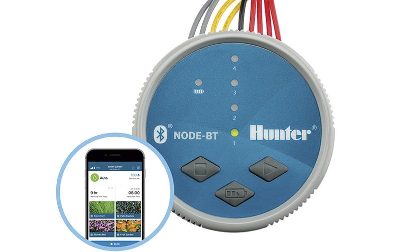 El nuevo programador de riego NODE-BT se maneja desde la palma de su mano