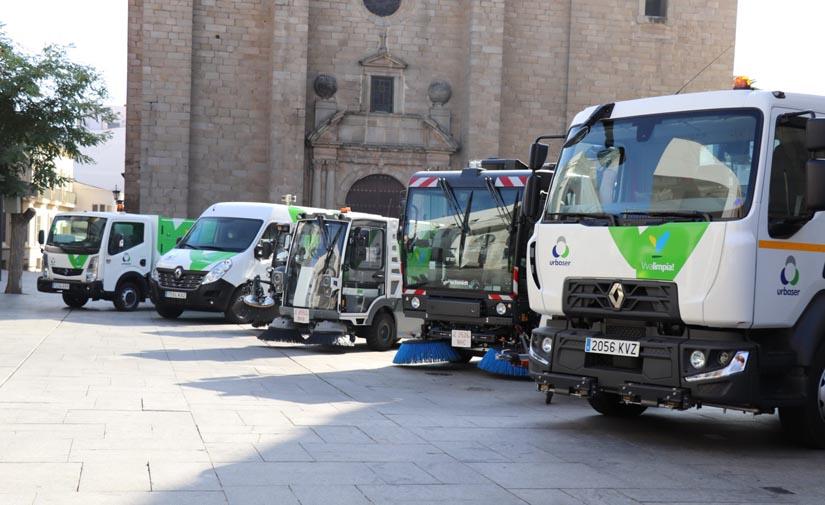 El servicio de limpieza viaria y recogida de basura de Villanueva de la Serena incorpora 12 nuevos vehículos con la última tecnología