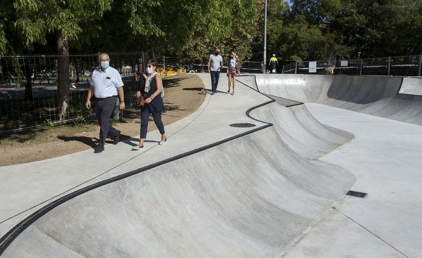 El skatepark del parque de Antoniutti, en Pamplona, estará listo para finales de septiembre