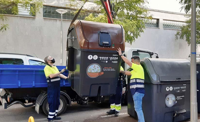 Emaya comienza la instalación de los contenedores de recogida de materia orgánica en cuatro barrios