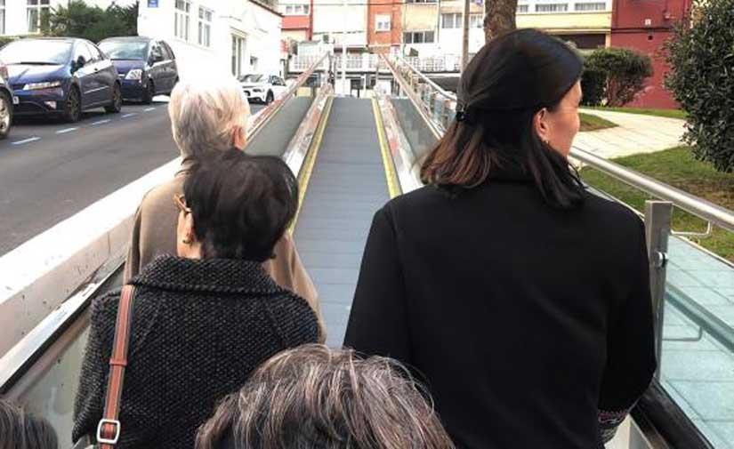 Entra en servicio el nuevo itinerario peatonal mecánico de Porrúa