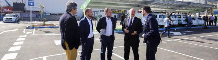 Las Palmas de Gran Canaria inaugura el parking público del Muelle del Sanapú con ocho estaciones para vehículos eléctricos