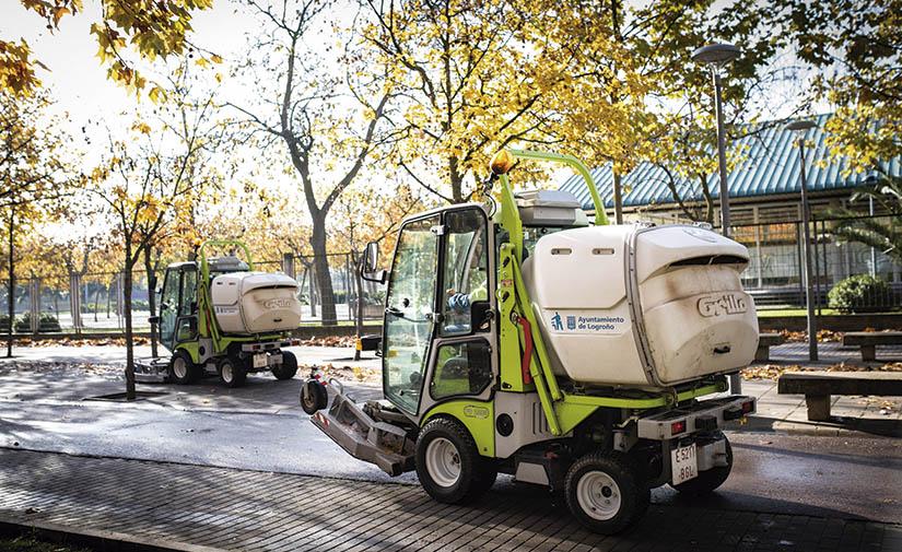 Equipos Grillo para las zonas verdes de Logroño