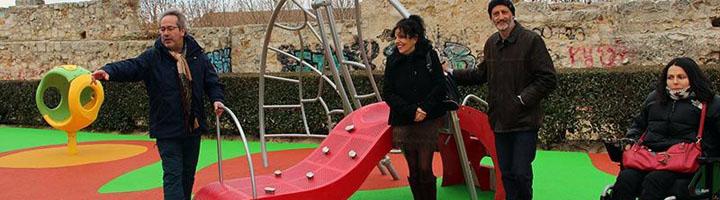 El Casco Antiguo de Zamora cuenta ya con un parque infantil plenamente inclusivo, ubicado en San Bernabé