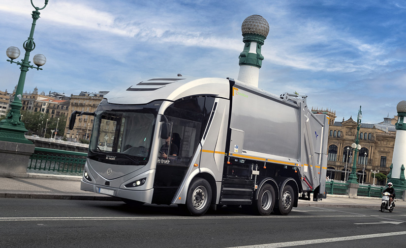 FCC Medio Ambiente e lrizar produciran los primeros 10 camiones eléctricos lrizar ie urban truck para recogida de residuos