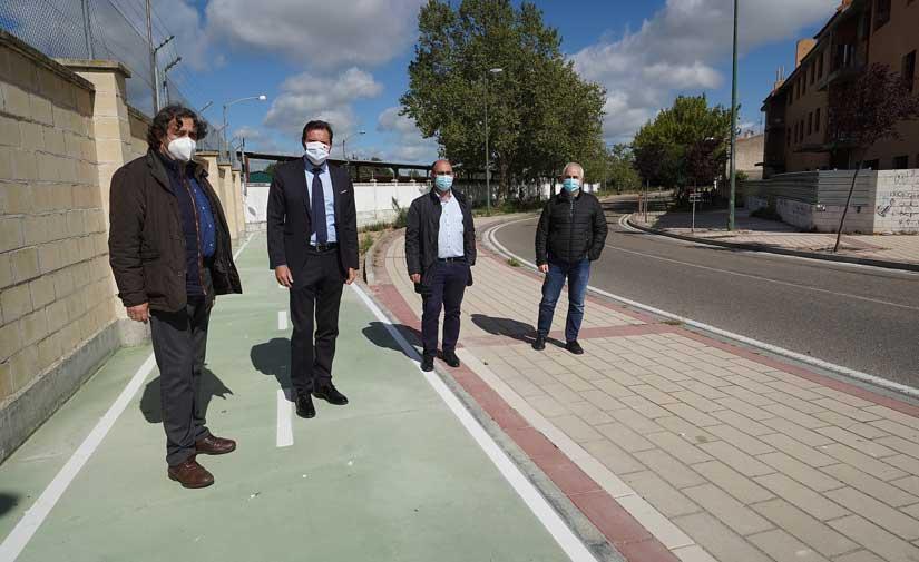 Finalizada la construcción de 900 metros de carril bici en Valladolid