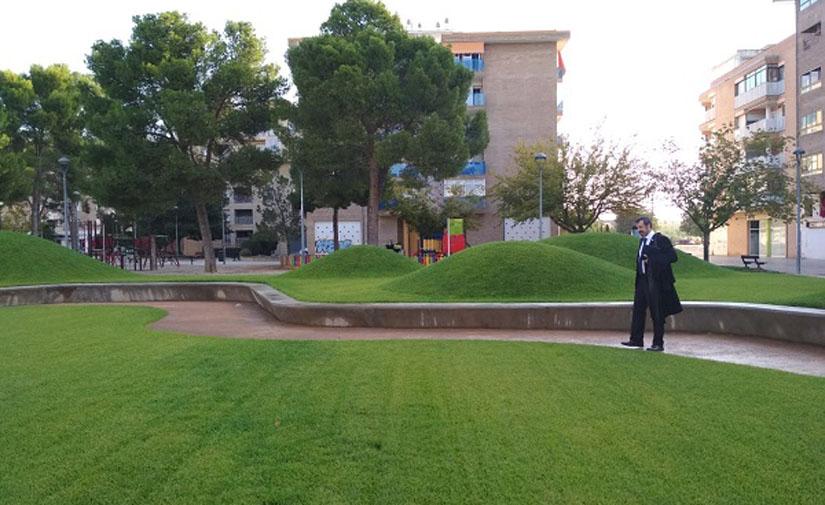 Finalizada la primera fase de la renovación del parque de San Martín en Huesca