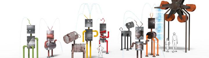 Amusement Logic presenta una novedosa colección de juegos infantiles creados con materiales reciclados