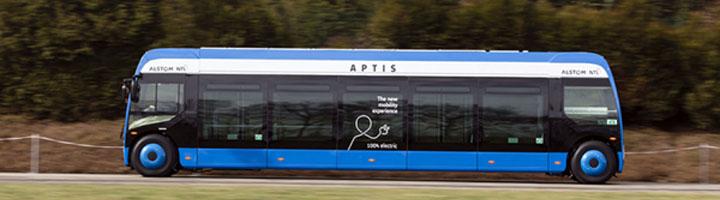 El vehículo APTIS, una fusión de autobús y tranvía, llega a la metrópolis de Barcelona en fase de pruebas