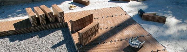El ITC comienza a instalar el sistema cerámico urbano de drenaje sostenible a través del proyecto LIFE CERSUDS