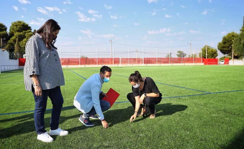 Garrapinillos apuesta por el césped artificial en su nuevo campo de fútbol