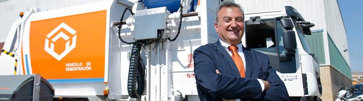 El innovador camión recolector de carga lateral del Grupo Ferruz estará en Municipalia