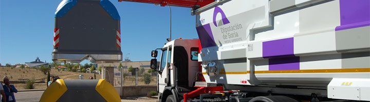 El servicio de recogida de residuos de Soria completará la instalación del sistema de carga bilateral en toda la provincia en cuatro años