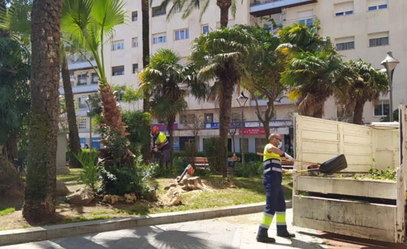 Huelva comienza la reforma y embellecimiento de los jardines de El Punto