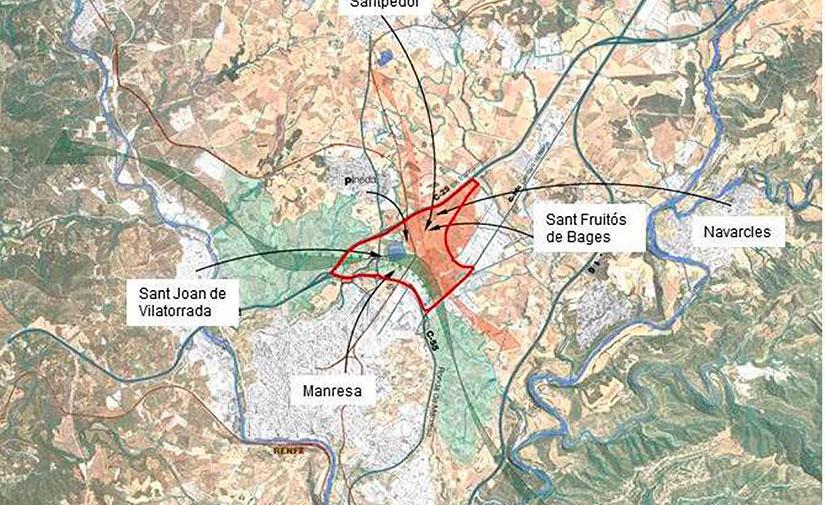 Impulso al Plan para ampliar y mejorar el Parque de la Aguja situado entre Manresa y Sant Fruitós de Bages