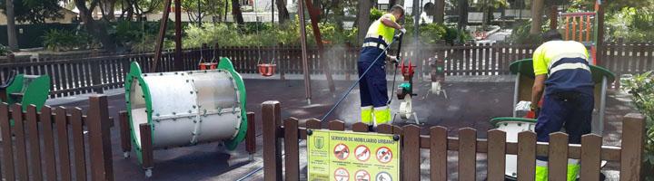 FCC Medio Ambiente gestionará el servicio de mantenimiento de zonas verdes y parques infantiles en Las Palmas de Gran Canaria