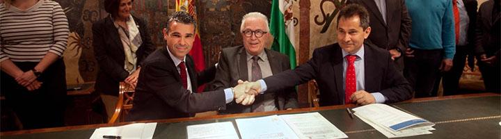 Marbella firman un convenio para aplicar nuevas aplicaciones tecnológicas en la gestión municipal