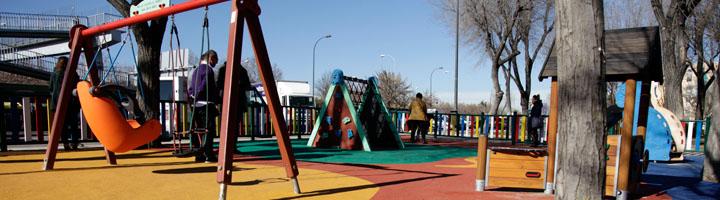 Getafe instala columpios adaptados en 6 parques de La Alhóndiga gracias a los Presupuestos Participativos