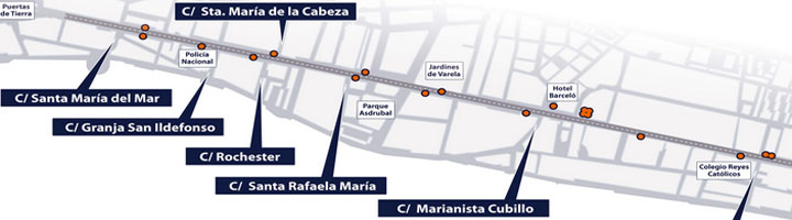 Cádiz instalará una veintena de bancos en la avenida principal de la ciudad