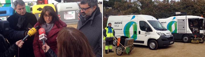 Mataró implanta mejoras en el servicio de recogida de residuos y de limpieza viaria