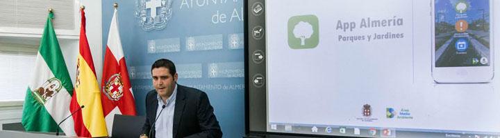 Almería lanza una nueva app que convierte a los vecinos en protagonistas de la gestión de Parques y Jardines