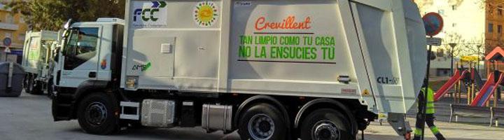 FCC presenta la nueva flota de vehículos y maquinaria del servicio de recogida de basura y limpieza de Crevillent